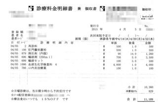 2015/4/5クロ病院代
