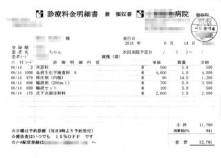 2015/6/14クロ病院代